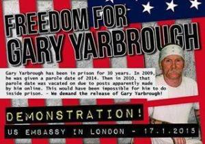 UK demonstration for the release of Gary Yarbrough